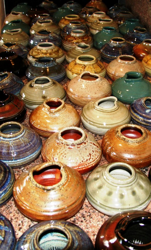 Row of Pottery